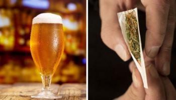 rekreativ cannabis, tungt at drikke