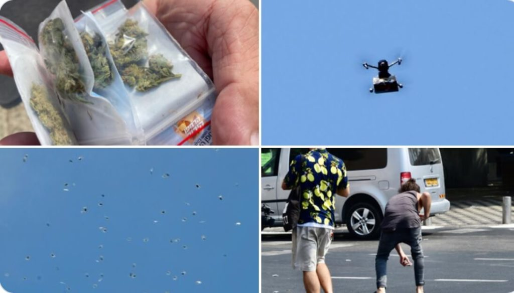 pochon de cannabis,drone cannabis