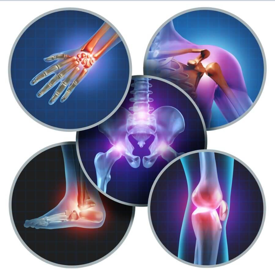 rheumatoid arthritis, spondylitis, microcrystalline diseases, osteoarthritis, rheumatological diseases