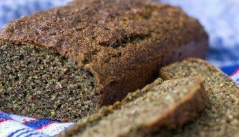 La receta del pan de cáñamo, pan de cáñamo.