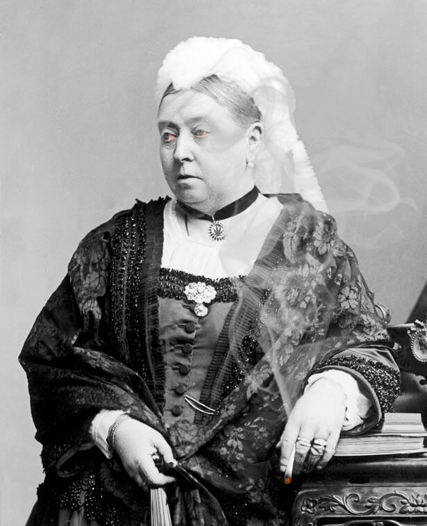 koningin victoria rookt een joint